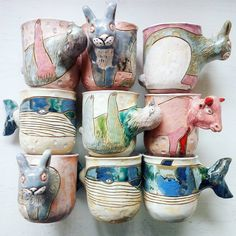 Pottery Mugs, Ceramic Pottery, Pottery Art, Pottery Ideas, Ceramic Mugs, Ceramic Bowls, Ceramic Art, Ceramics Projects, Clay Projects