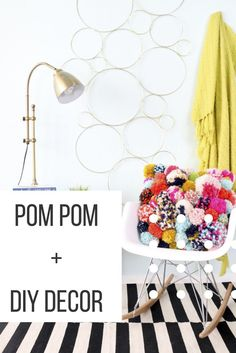 Falling in love with Pom Pom crafts too? Take a peek at Pom Pom-inspired crafts that include diy pillows, wall hangings, keychains, and more!