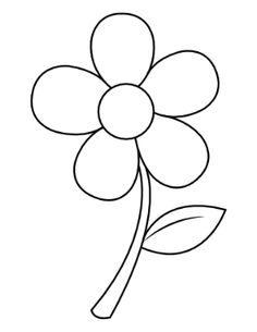 Free Printable Nature Coloring Pages Sunflower Coloring Pages, Printable Flower Coloring Pages, Easy Flower Drawings, Kindergarten Coloring Pages, Stained Glass Patterns Free, Stained Glass Flowers, Flower Doodles, Embroidery Patterns Free, Flower Template