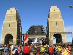 Harbour Bridge walk World Youth Day Sydney Australia Aug 2008