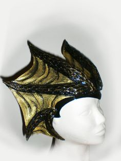Dragon's horns fantsy larp d red fire costume horn tiara head white medieval demon lord bull wiccan leather druid elf