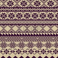 Knitted background with pattern in Fair Isle style photo