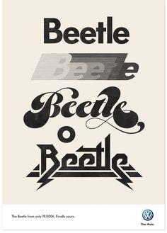 Beetle / Marta Cerdà Alimbau Vintage Typography, Typography Letters, Typography Poster, Graphic Design Typography, Logo Design, Retro Font, Retro Logos, 60s Font, Beetlejuice