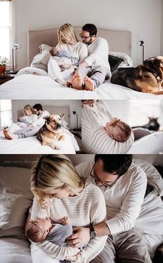 Another day, another house/dog/baby I want to steal! This cute couple has made a super cute baby to add to the family. Newborn Family Pictures, Family Maternity Photos, Newborn Photos, Newborn Session, Family Pics, Maternity Pictures, Baby Photos, Newborn Twin Photography, Newborn Photographer