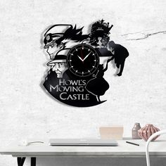 Howl's Moving Castle Vinyl Record Clock - Howls Moving Castle wall clock - Best Gift for Fans Howl's Castle - Original Gift for Wall Decor Vinyl Record Clock, Vinyl Records, Record Crafts, Castle Wall, Vinyl Gifts, Howls Moving Castle, Castles, Gift Guide, Best Gifts