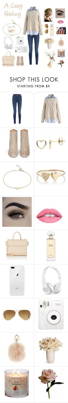 """Comfy and Cozy"" by beauty55 ❤ liked on Polyvore featuring J Brand, Chicwish, Aquazzura, Estella Bartlett, Blue Nile, Jennifer Meyer Jewelry, L.A. Girl, Givenchy, Ralph Lauren and Beats by Dr. Dre"