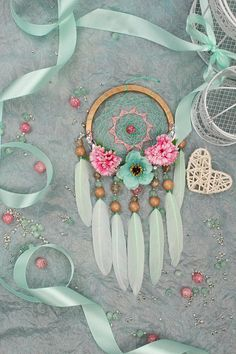 Dreamcatcher Mint Dream Catcher small Dreamcatcher baby Dream сatcher gift idea dreamcatchers boho dreamcatcher wall handmade idea gift mint This amulet like Dreamcatcher - is not just a decoration of the interior. It is a powerful amulet, which is endowed with many properties: