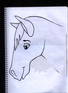 Notasdivinais Molde Cabeca De Cavalo Molde De Cavalinho Cabeca