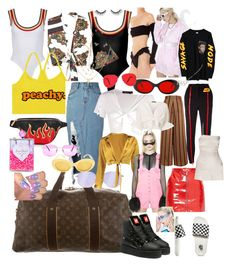 """""""21st Birthday Las Vegas"""" by nneomaswag on Polyvore featuring Louis Vuitton, storets, Ray-Ban, Boohoo, Idylle, Puma, Cyberdog, Nasty Gal, Rojas and Sugarbaby"""