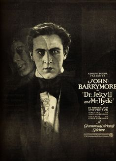 Dr. Jekyll and Mr. Hyde poster John Barrymore as the title character