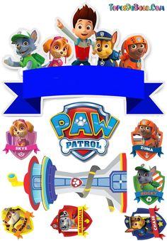 Imprimibles Paw Patrol, Paw Patrol Stickers, Paw Patrol Party Decorations, Paw Patrol Birthday Theme, Zuma Paw Patrol, Paw Patrol Cake Toppers, Cumple Paw Patrol, Crafts, Lucas Gabriel