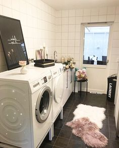 """Laundry Room  XOXO // use my uber code """"daijaha1"""" to get $15 off your first ride."""