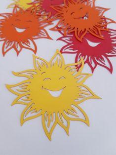 Sunshine Sun Die Cut Out Scrap Booking School Decor Spring Tea Party Decorations, School Decorations, Valentine Decorations, Flower Decorations, Flower Crafts Kids, Crafts For Kids, Arts And Crafts, Paper Birds, Paper Flowers