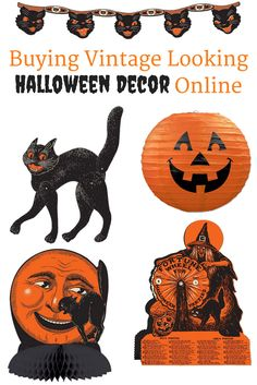 Vintage looking Beistle Halloween decor