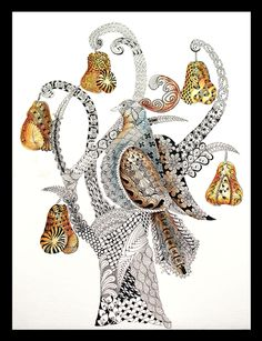 """""""Partridge in a Pear Tree"""" by Terri at Comfort Cottage"""