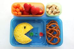 Pac-Man Bento Lunch Box - Happiness is Homemade #aBetterLunch #pmedia #ad