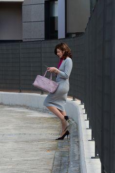 Vestido de #DVF, #Magritshoes y bolso de #Uterqüe, #workingoutfits