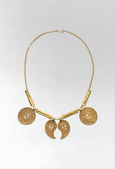 1f809574fdc Gold Necklace with Pendants - ca. 7th century. Byzantine. Ethnic Jewelry