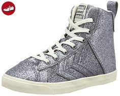Slimmer Stadil Smooth Canvas, Sneakers Hautes Mixte Adulte, Gris (Castle Rock), 45 EUHummel