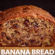 This Banana Bread Recipe is loaded with ripe bananas, tangy raisins and walnuts making it a banana nut bread. The best way to use up ripe bananas! This banana bread is super moist, easy and is wonderful for breakfast. Banana Bread Recipe Video, Easy Banana Bread, Easy Bread Recipes, Banana Bread Recipes, Banana Bread Recipe With 4 Bananas, Banana Bread Apple Sauce, Banana Walnut Bread Moist, Banana Recipes Videos, Recipes With Bananas