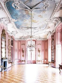 Somewhere in Benrath, which is now a borough of Düsseldorf, Germany, lies a perfectly pink Baroque-style maison de plaisance (pleasure palace), known as Schloss Benrath. Baroque Architecture, Beautiful Architecture, Beautiful Buildings, Interior Architecture, Beautiful Places, Beautiful Dream, New York Information, Home Interior Design, Interior And Exterior