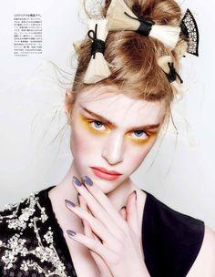 Hedvig Palm by Kenneth Willardt for Vogue Japan April 2015 - Alexander McQueen