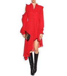 Marbella red silk dress