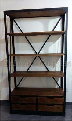 Hierro forjado Muebles Living, Drawer Handles, Bookcase, Drawers, Sweet Home, Iron, Shelves, Loft, House