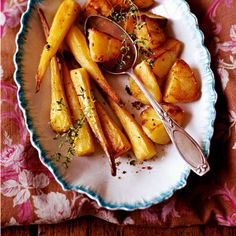 Best Christmas side dishes | Parsnips and Potatoes Roasted in Duck Fat and Thyme. | Christmas recipes - Red Online