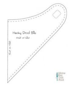 Hanky Drool Bib Pattern