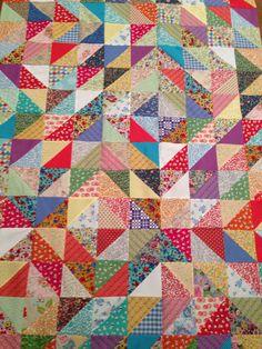 Vintage HST quilt
