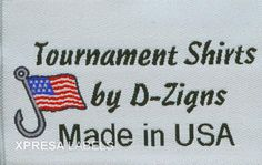 Woven Clothing Labels- Sports Apparel-USA Tournaments