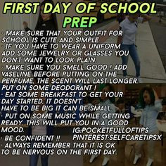 First Day Of High School Tips Physics And Mathematics Middle School Hacks, Life Hacks For School, School Study Tips, Back To School Hacks, High School Tips, Back To School Glo Up, High School Essentials, High School First Day, High School Makeup