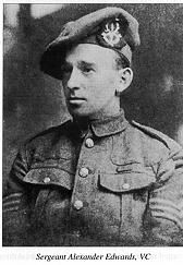 Victoria Cross winner Sergeant Alexander Edwards 6th Seaforths, Ypres, 31st July - 1st August 1917