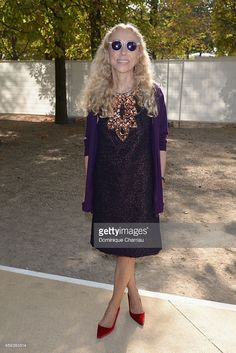 Franca Sozzani attends the Valentino show as part of the Paris Fashion Week Womenswear Spring/Summer 2015 on September 30, 2014 in Paris, France.