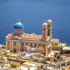 Syros island, Greece Syros Greece, Athens Greece, Santorini Grecia, Greece Pictures, Greek Isles, Sacred Architecture, Cathedral Church, Greece Islands, Tourist Places