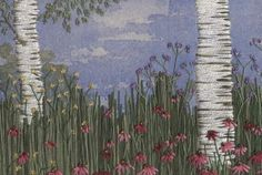 Silver Birch embroidery - by Jo Butcher winner of the Kitchen Table Talent Country Living Award