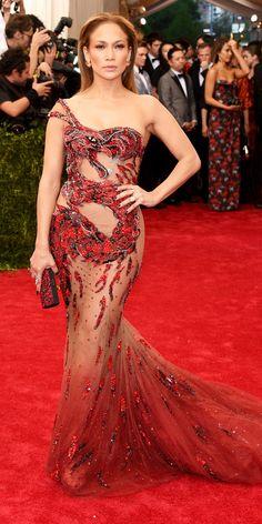 Jennifer Lopez's Best Red Carpet Looks - In Atelier Versace, 2015 from #InStyle