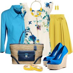 """Blue Satin"" by corenna-obrien on Polyvore"