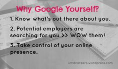 Why Google Yourself?