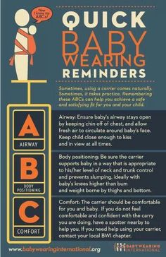 Babywearing safety checklist