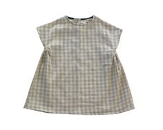 Image of Willa Dress in Grey Gingham Double Gauze