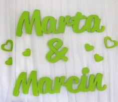 Imiona na ściankę Marta&Marcin