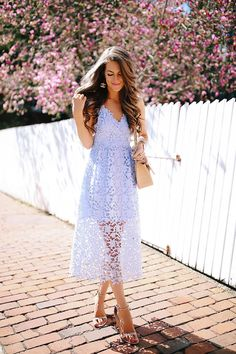 This blog has ideas for what to wear to a spring/summer wedding