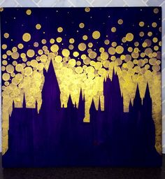 Perched atop a high mountain...its windows sparkling in the starry sky, was a vast castle with many turrets and towers. JKR- Harry Potter and the Sorcerers Stone  This is a pretty and unique painting of the Hogwarts Castle! I hand paint these on durable pine wood, and they come ready to hang and display in your castle...err-home! These measure 12 square. A perfect gift for the witch, wizard, or Muggle in your life! Great for birthdays, housewarming gifts, holiday gifts, or even nurseries! I…