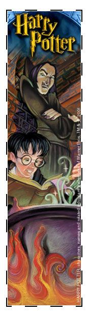 Bookmarks in the Harry Potter series. You can save them on your computer or print them following the traditional way.