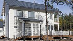 Valo - Kannustalo Garage Doors, New Homes, Outdoor Decor, House Ideas, Home Decor, Decoration Home, Room Decor, Home Interior Design, Carriage Doors