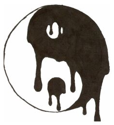 """yin yang"" love the way it drips into itself! I want this on my photo wall Tumblr Drawings Easy, Trippy Drawings, Sad Drawings, Cool Art Drawings, Pencil Art Drawings, Art Sketches, Easy But Cool Drawings, Drawing Ideas, Hipster Drawings"