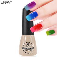 Elite99 7ml Temperature Change Chameleon Color Changing UV Nail Gel Polish Long Lasting UV Gel Nail Varnish Choose 1 Color