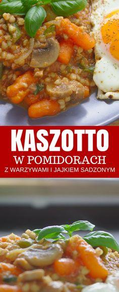 Wegetariańskie kaszotto - kasza gryczana w pomidorach | Słodkie Gotowanie Baked Potato, Food And Drink, Potatoes, Baking, Ethnic Recipes, Food And Drinks, Potato, Bakken, Backen